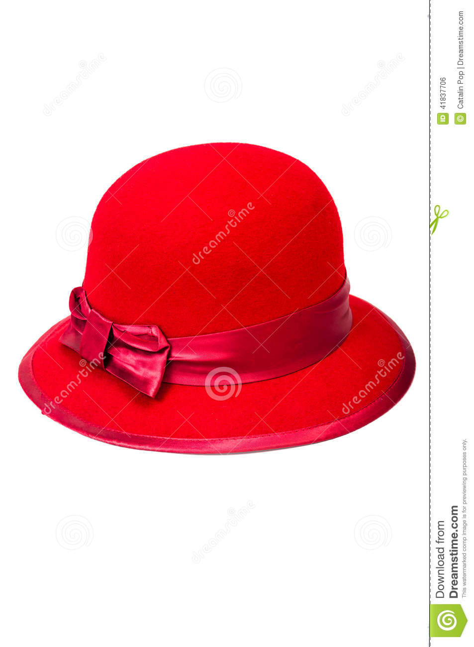4645a9b8195d5 Red hat with classical look for women, isolated on white background. More  similar stock images