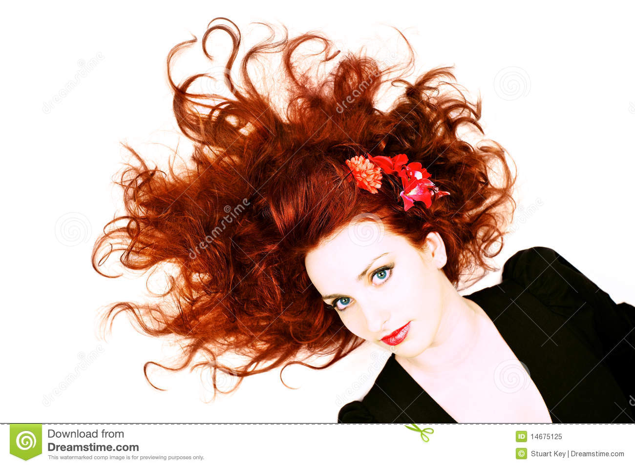 Red head beautiful woman