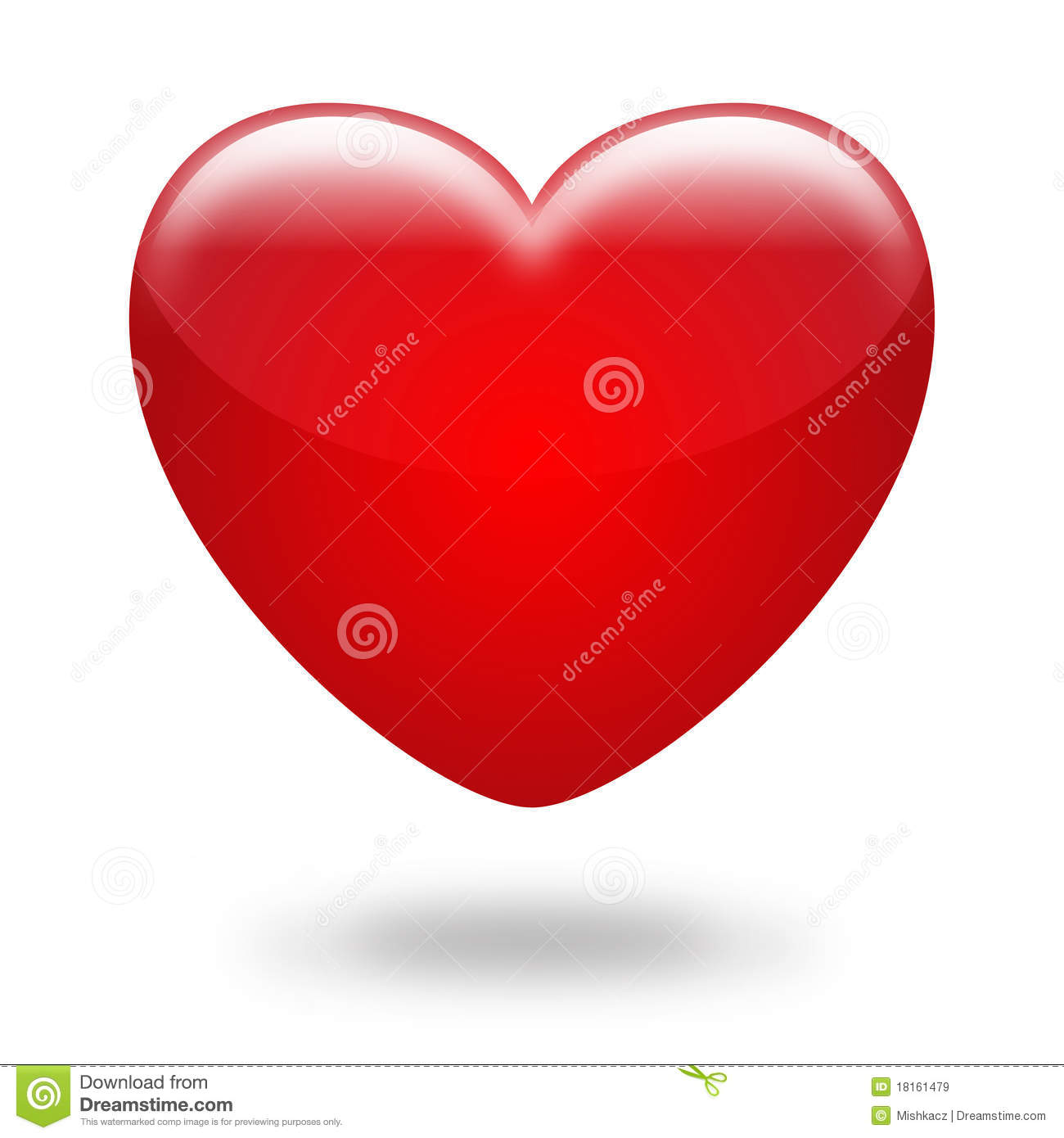 Red Heart Stock Vector Illustration Of Card Clear Background