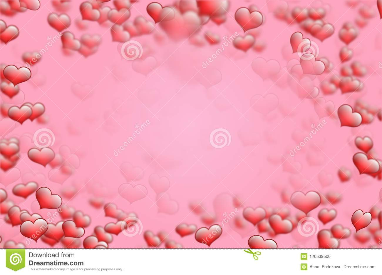 Red Heart Background Frame For Saint Valentine Best Wishes And