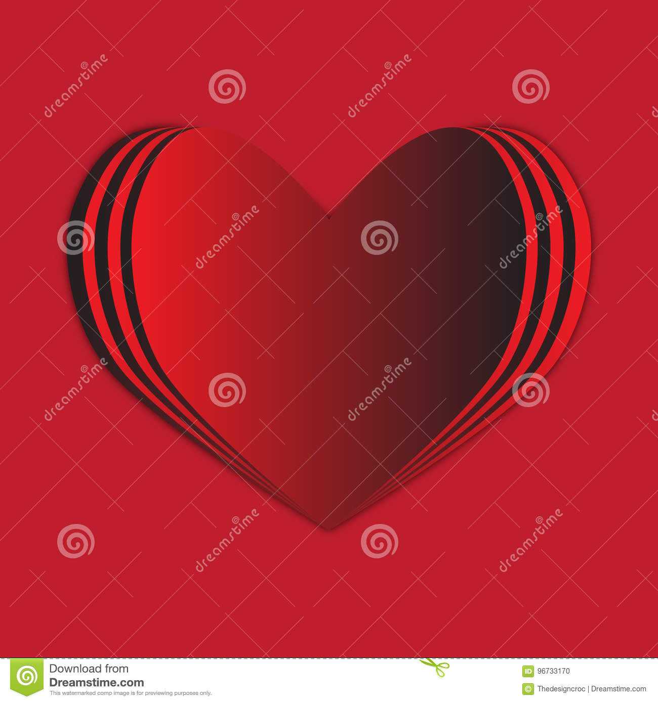 Red Heart Background Love Passion Stock Vector Illustration Of