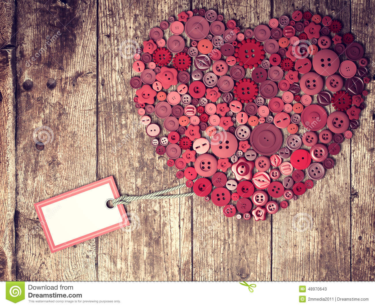 Vintage Heart Background Red Heart Background O...