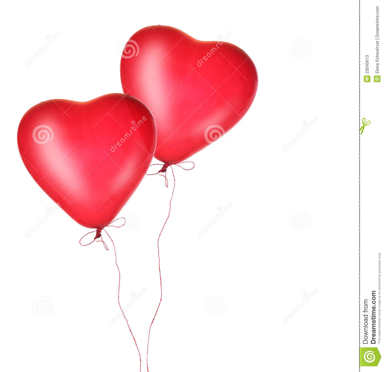 Red Heart Balloons Stock Photos - Image: 23045613