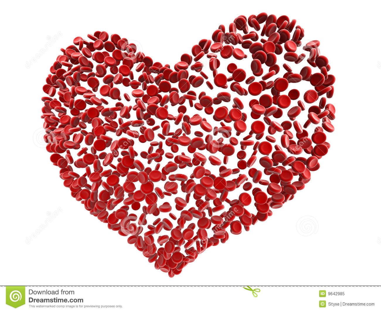 Red Heart Blood Cells Royalty Free Stock Photo - Image