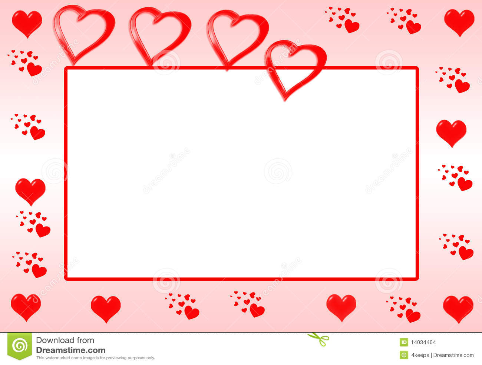 Red Heart Border stock illustration. Illustration of ...