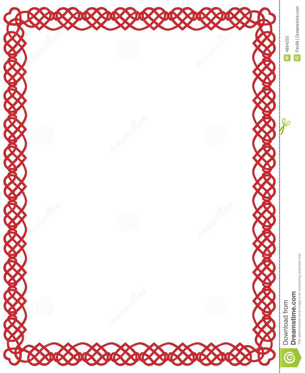 Heart Borders Free Red Heart Border With Celtic
