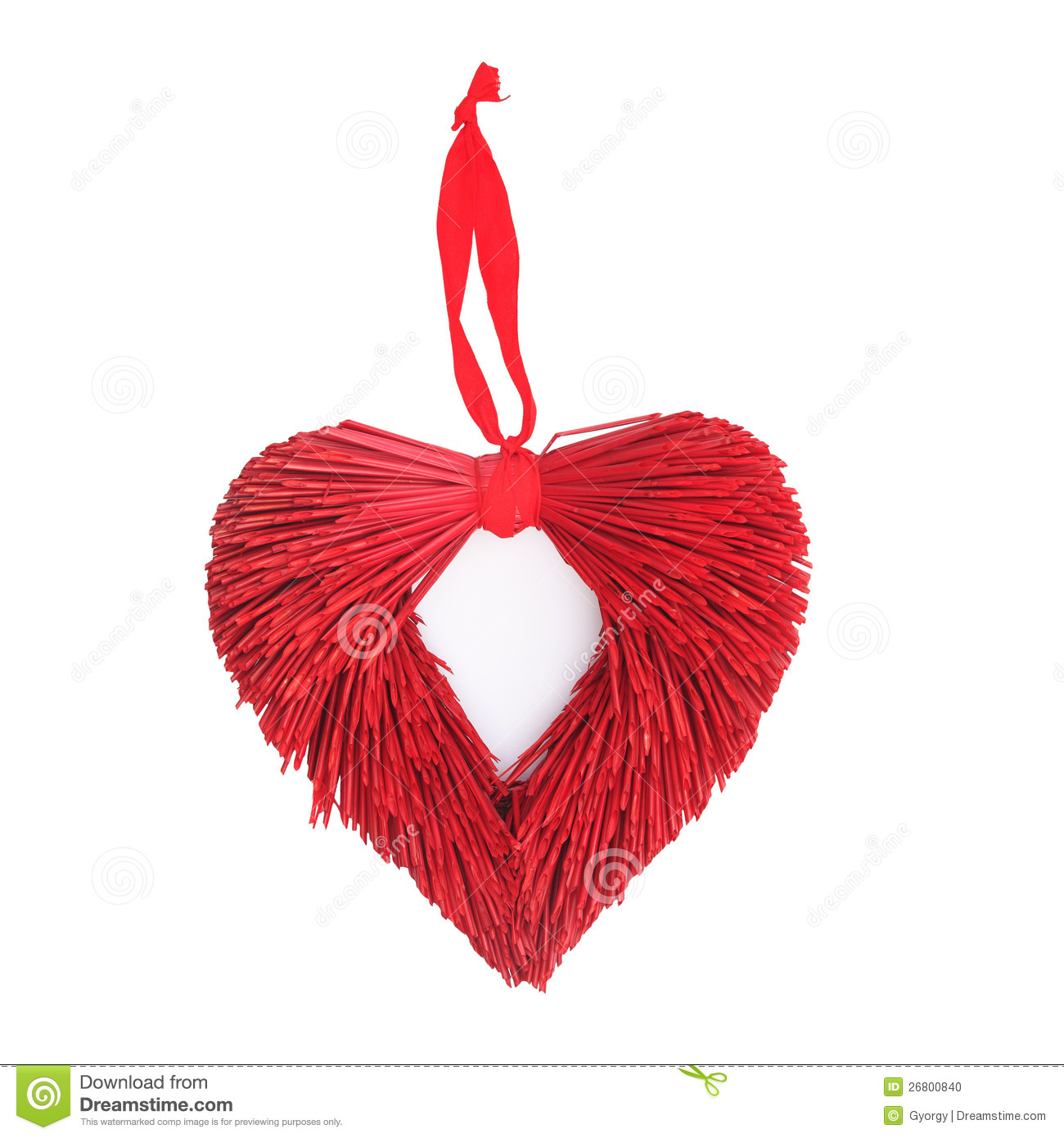 Red heart christmas xmas festive door decoration stock