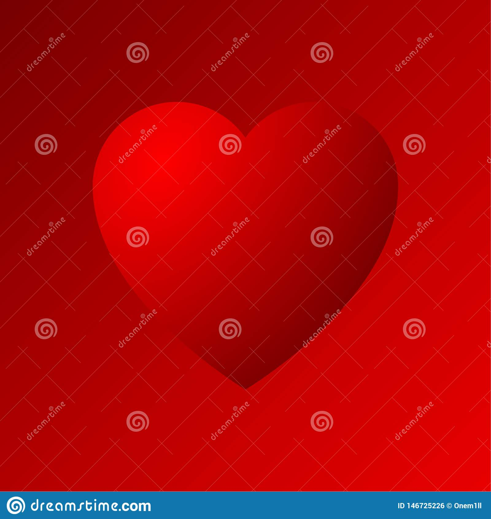Red heart dradient icon