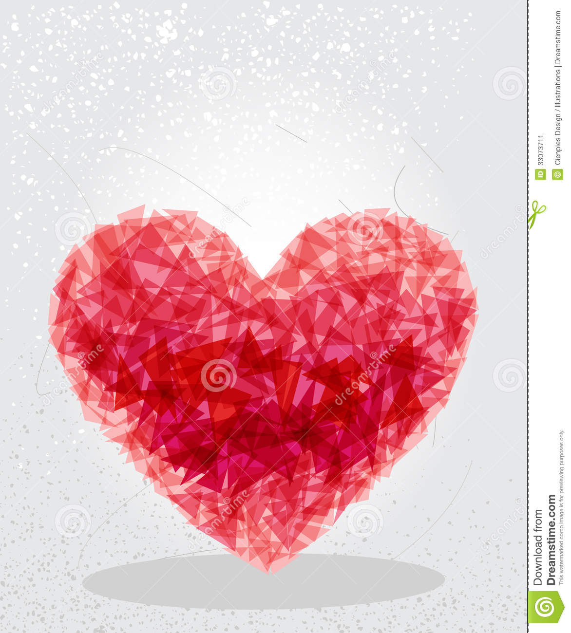 Red Heart Geometric Shape Stock Image Image 33073711
