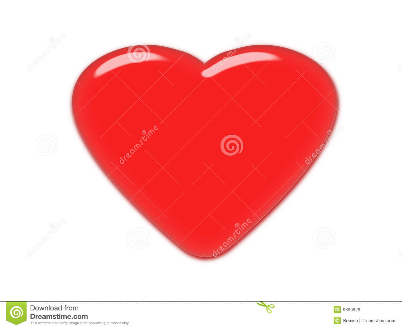 Red heart glass effect classical love symbol stock illustration royalty free stock photo buycottarizona Gallery
