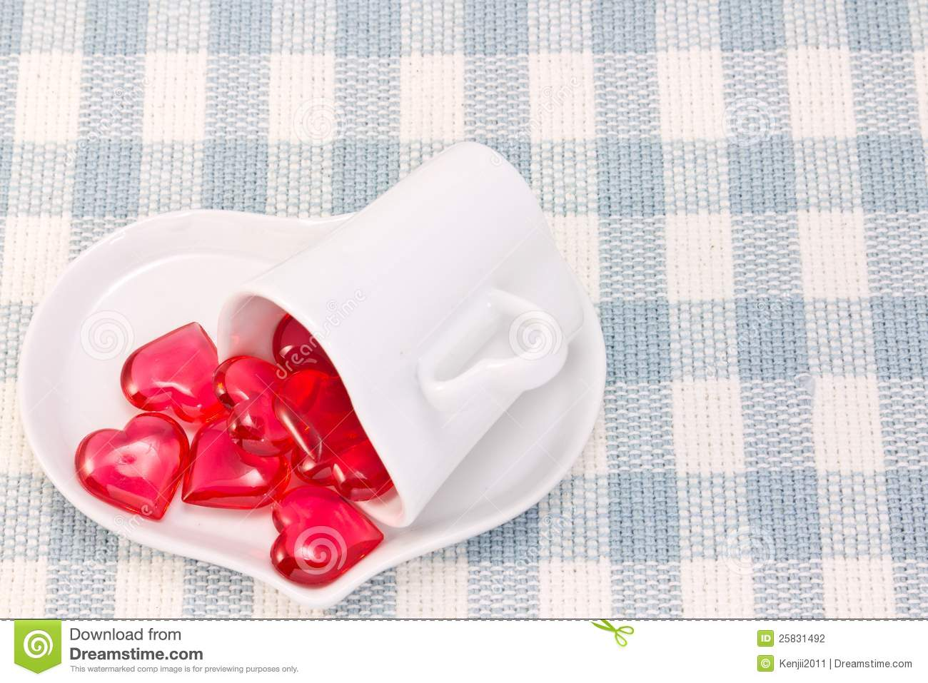 Download Red Heart And Heart Shaped Coffee Cup Stock Photo - Image of white, utensils: 25831492