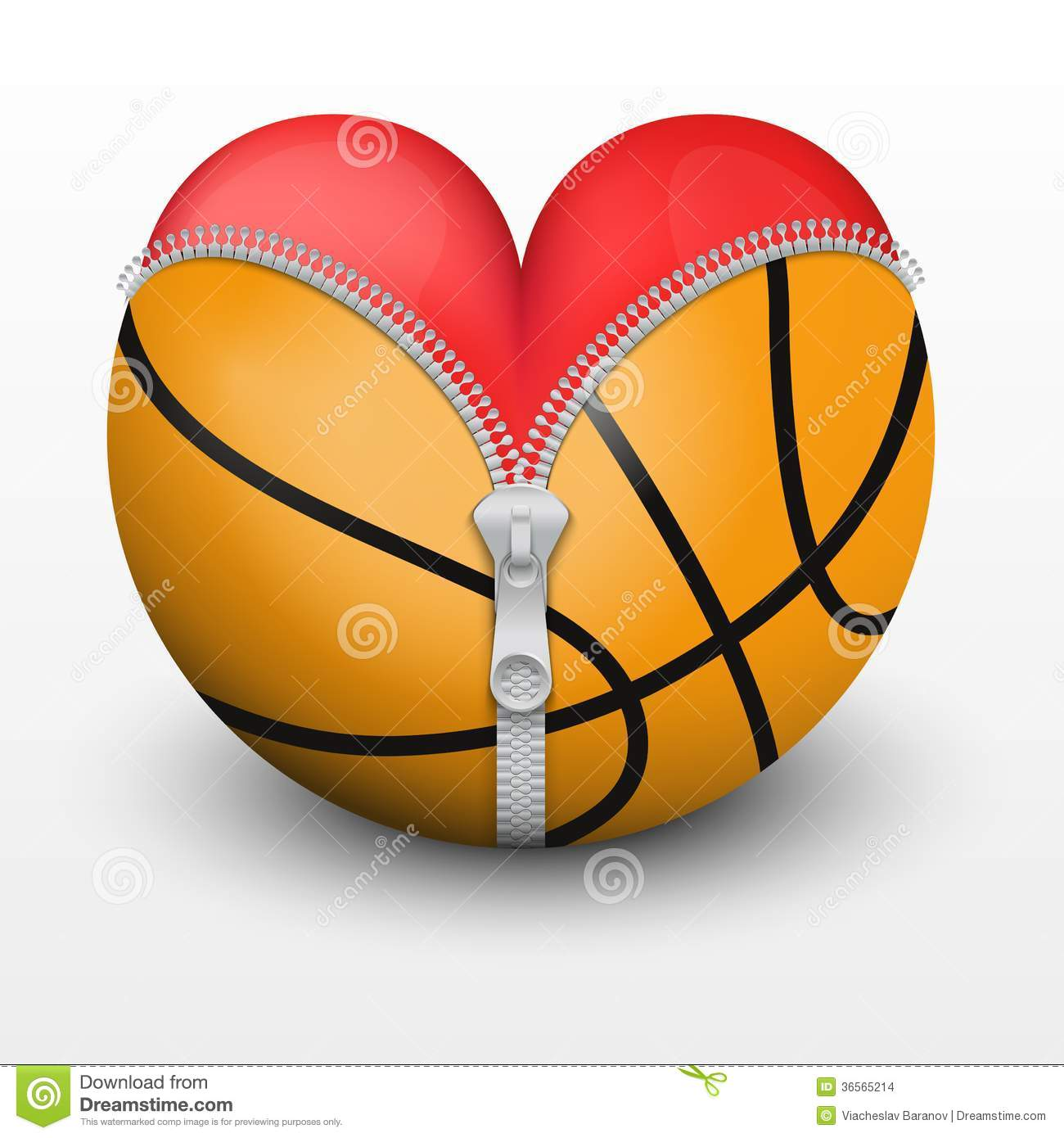 Love and basketball symbol