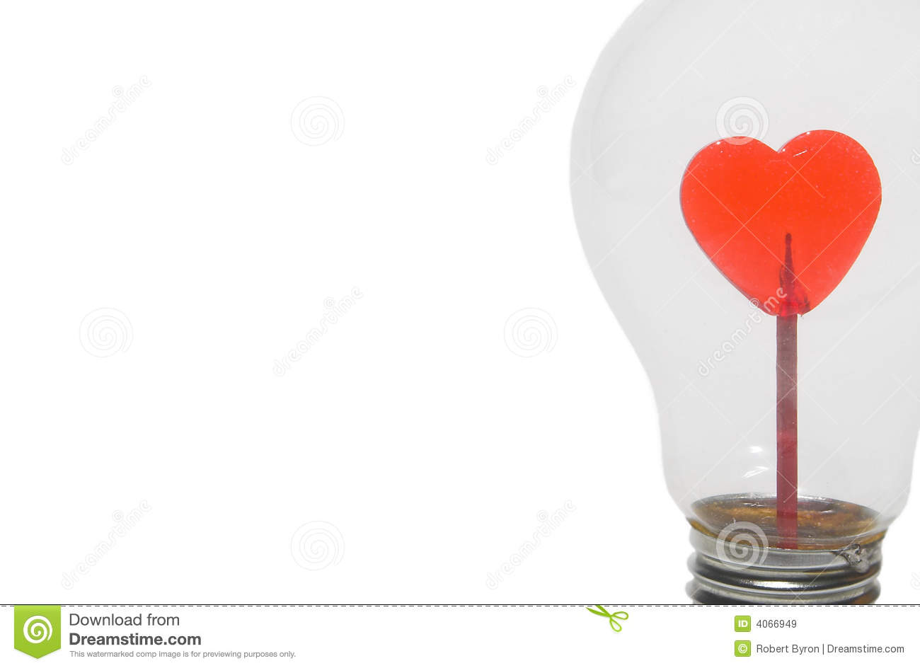 Red Heart In Light Bulb Royalty Free Stock Images Image