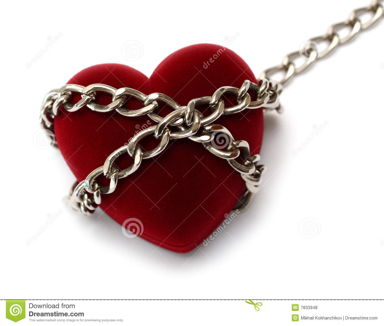Red Heart Locked With Chain Royalty Free Stock Photos ...