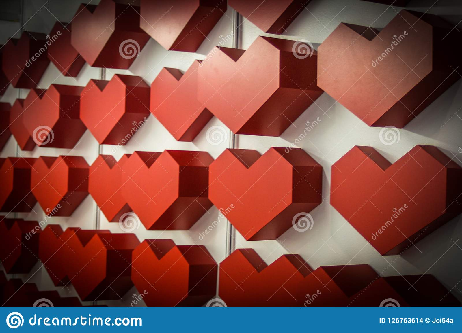 Red heart. Many heart`s background