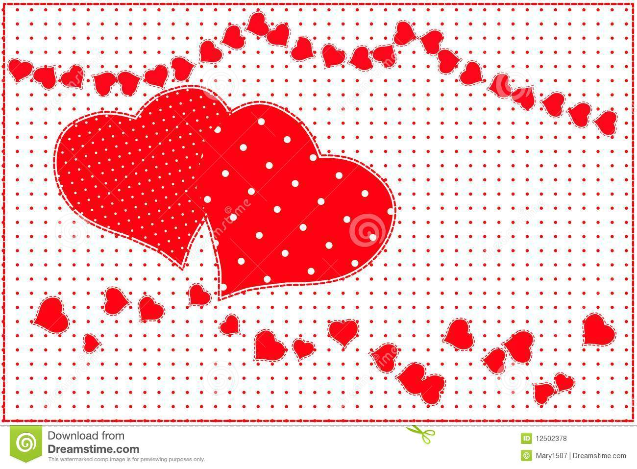 Red Heart Pattern Royalty Free Stock Photos Image 12502378