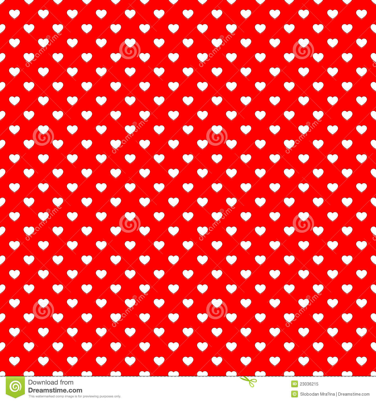 Red Heart Seamless Pattern Background Stock Image Image