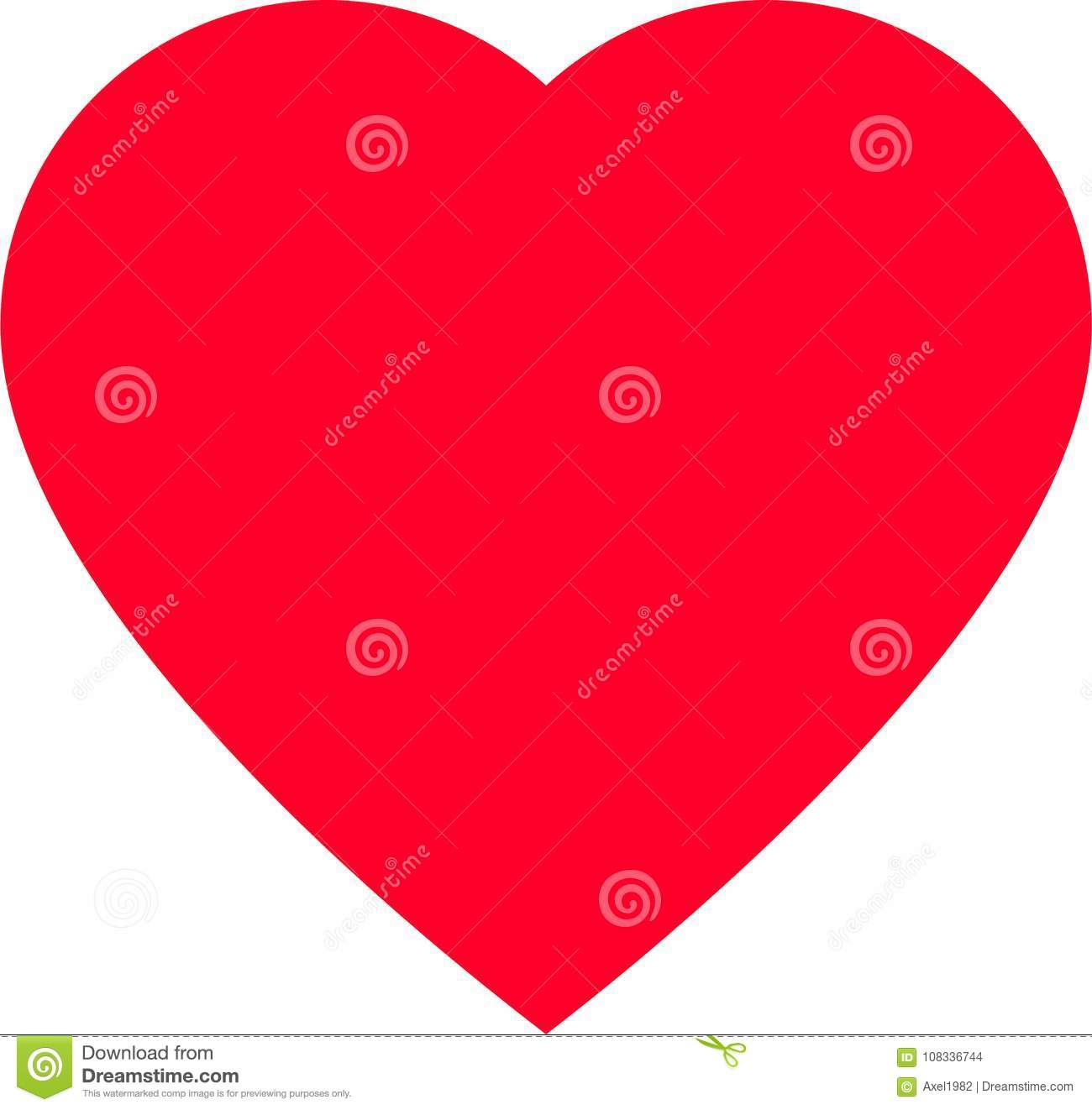 Red Heart Shape For Love Symbols Stock Vector Illustration Of Icon