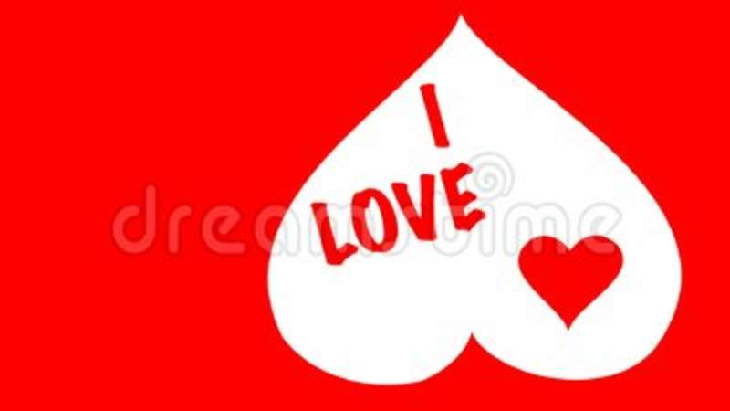 Red Heart Shape Symbol Animation In Love Concept Valentines Day Or