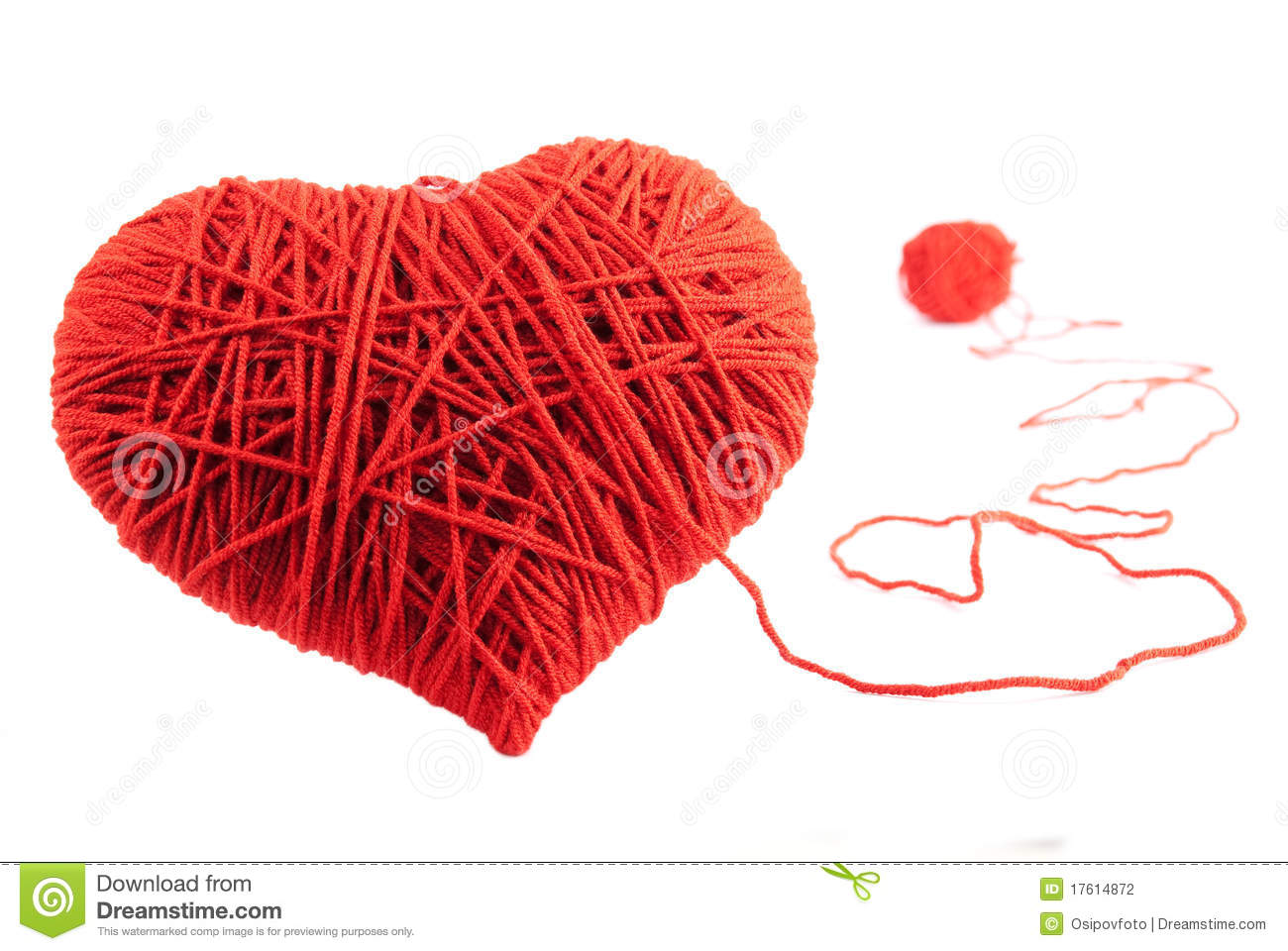 Red Heart Shape Symbol Made From Wool Stock Photo Image Of Love