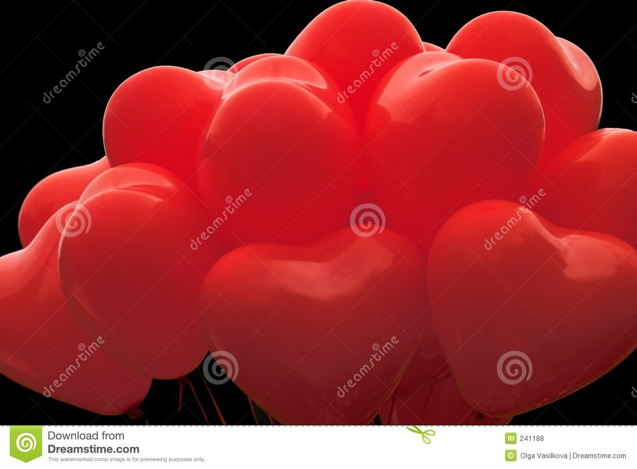 Red Heart Shaped Balloons Royalty Free Stock Photos - Image: 241188