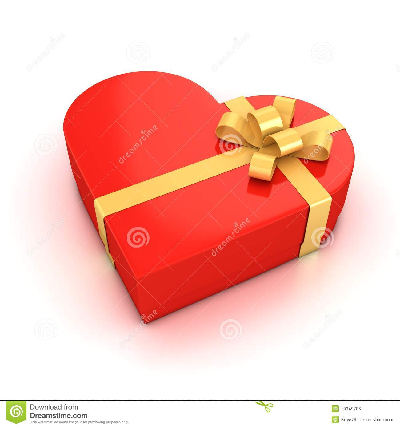 Red Heart Shaped Gift Box Royalty Free Stock Image - Image: 19349786