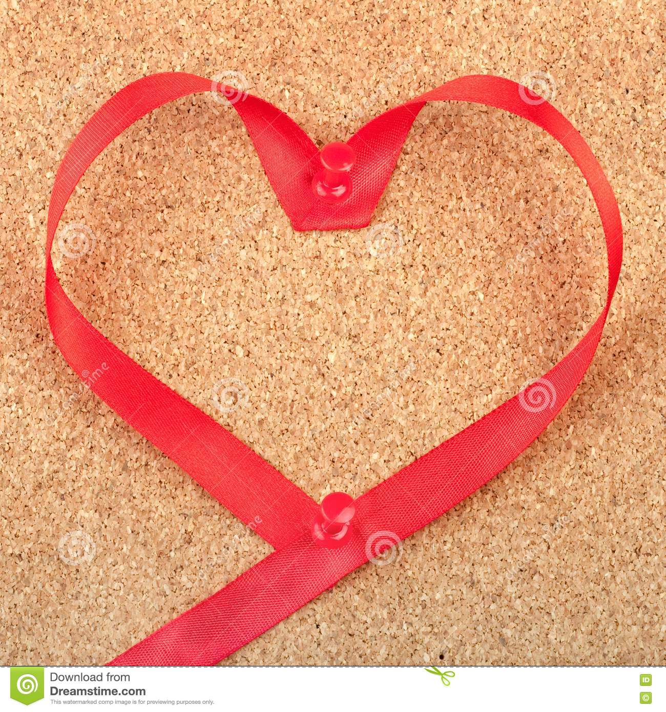 Red heart shaped ribbon stock images image 18436914 for Heart shaped bulletin board