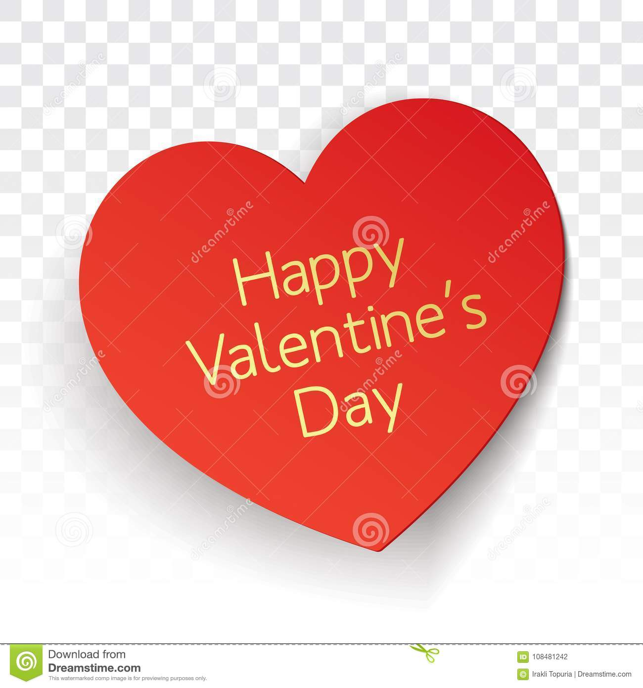 Valentines Day Vector Greeting Card Design Stock Vector