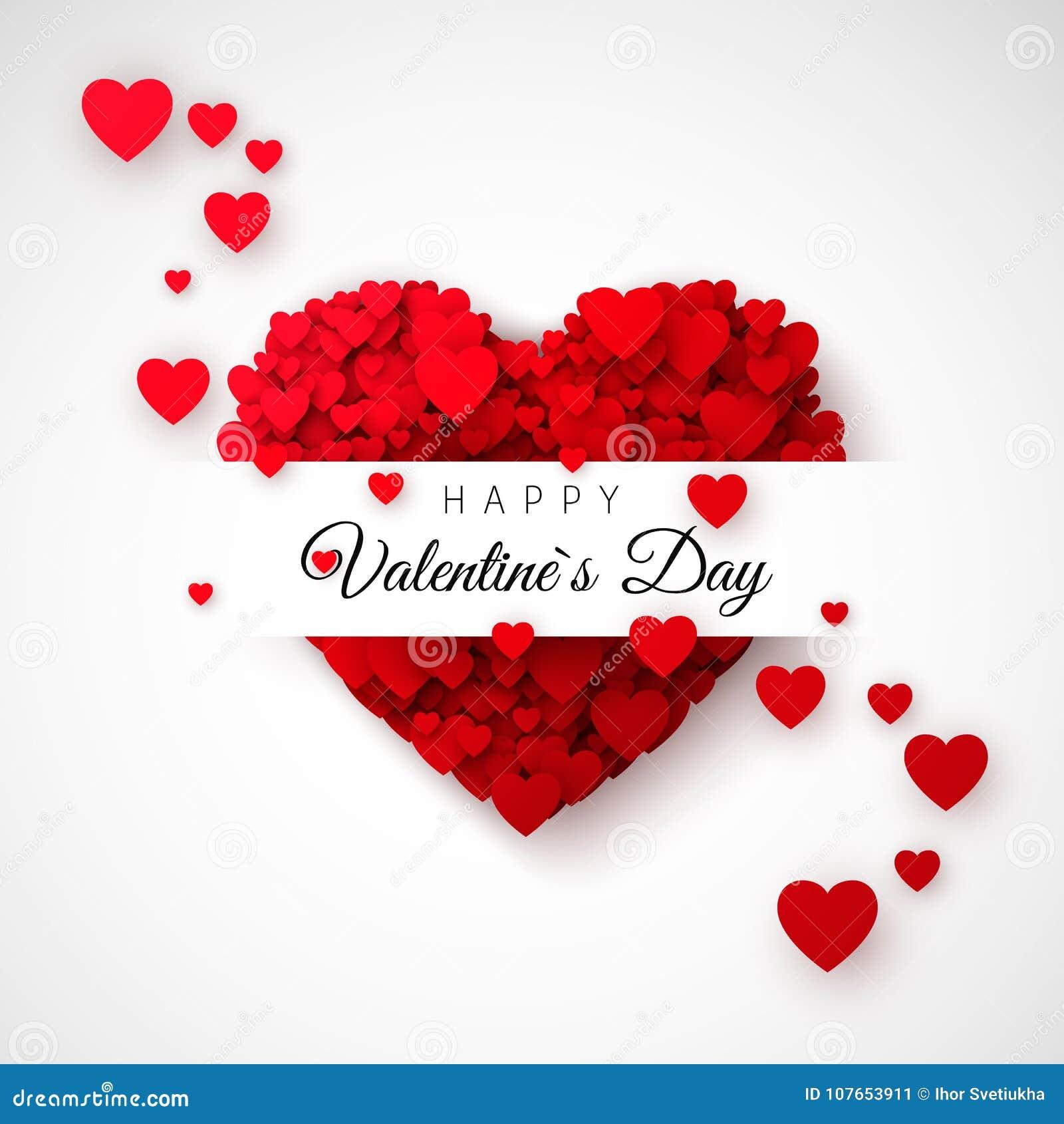 Red Heart - Symbol Of Love  Hearts Confetti  Saint