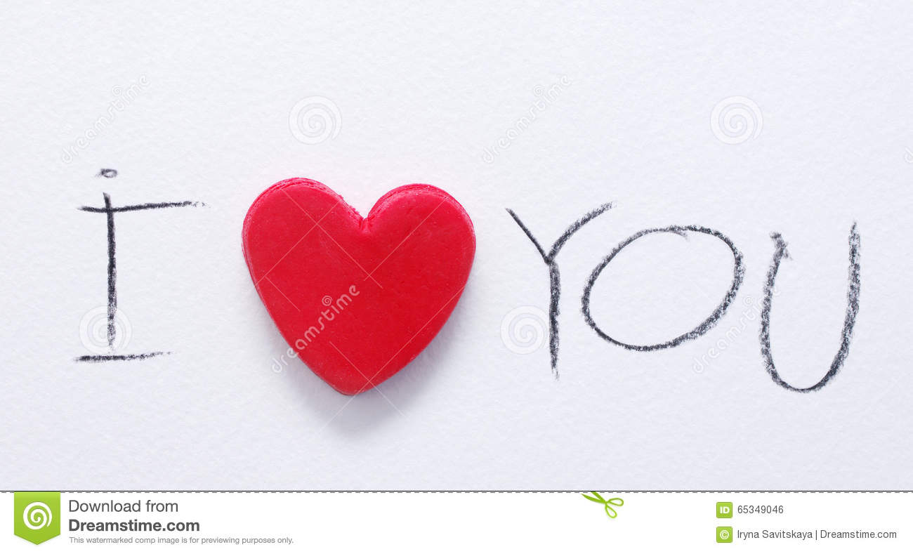 Red Heart And The Text I Love You, Written By A Black ...