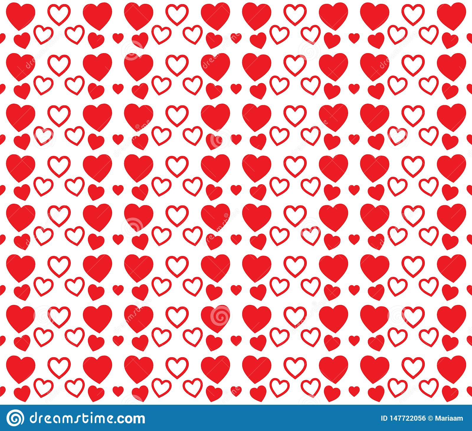Red heart texture for Valentines Day. Clean and lovely background design.