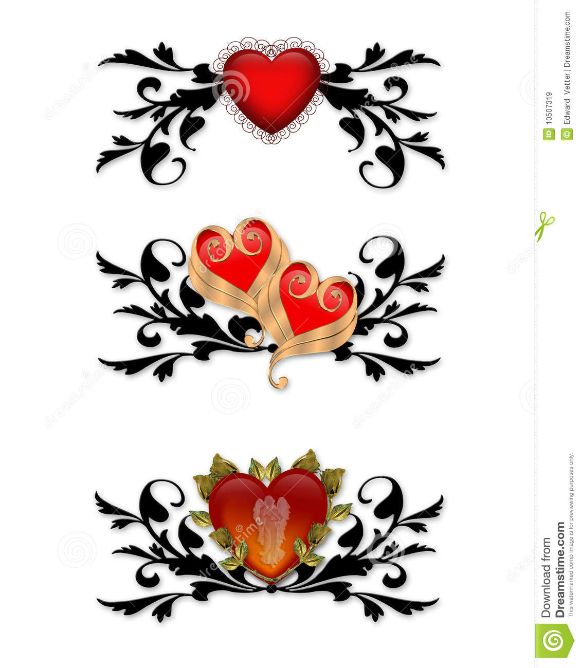 Red Heart Tribal Design Elements Royalty Free Stock Images ...