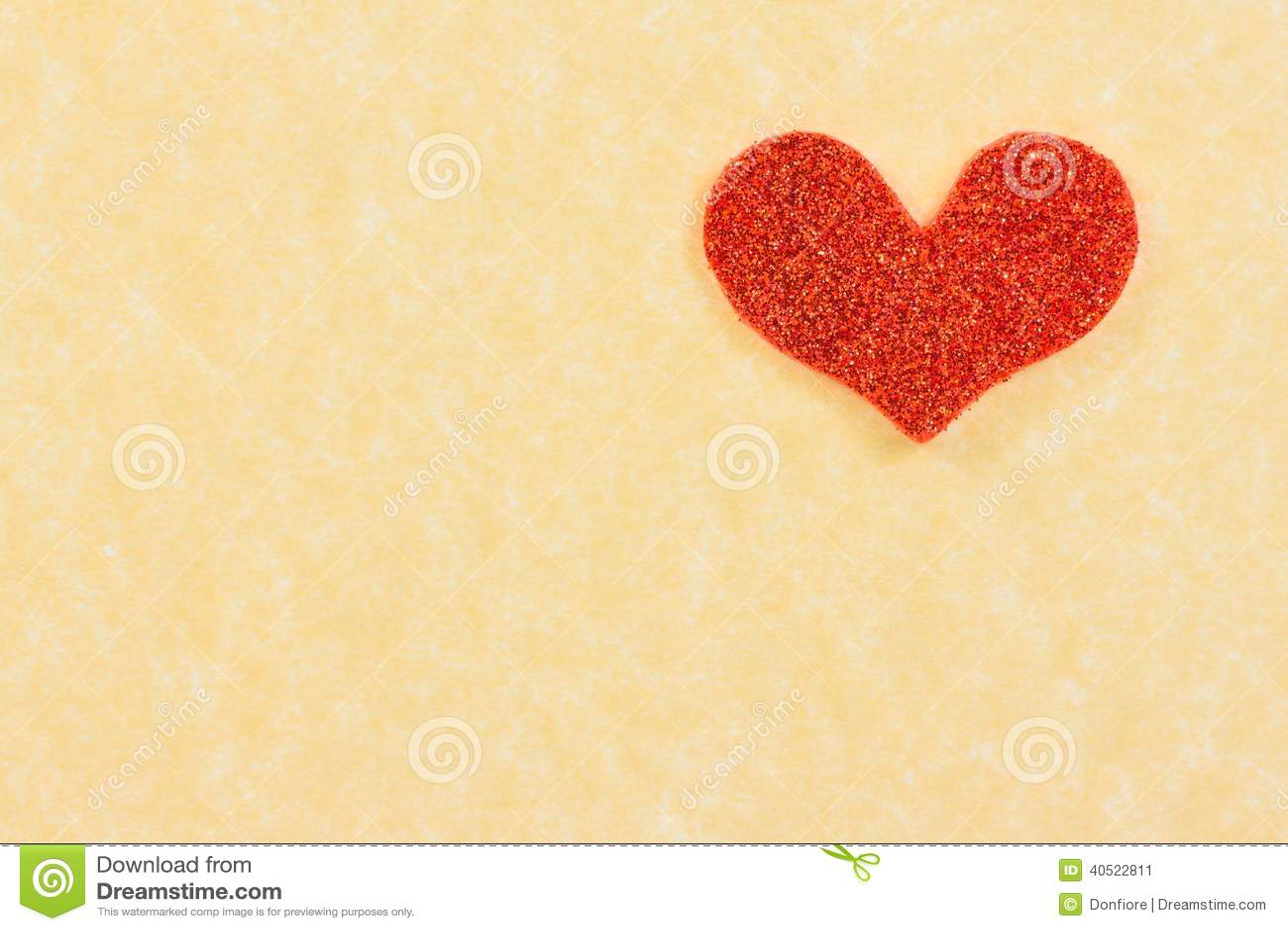 Vintage Heart Background Red heart on vintage parchment