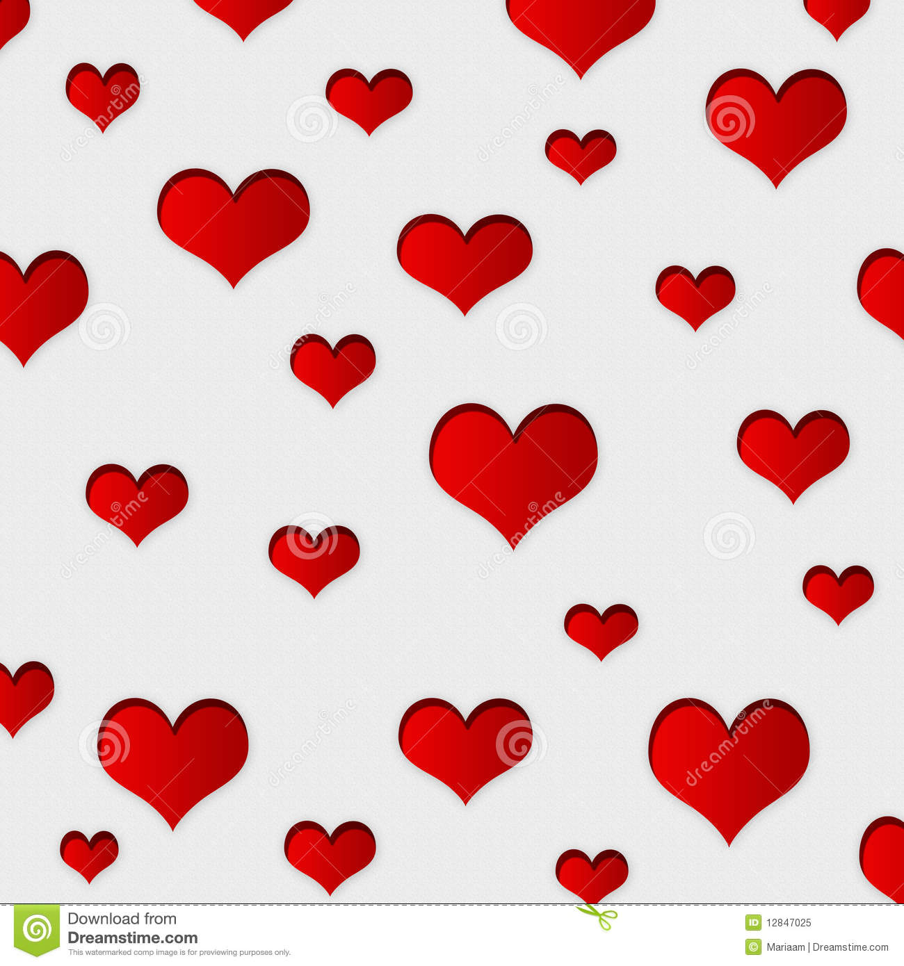 Red Hearts Background Stock Illustration Illustration Of