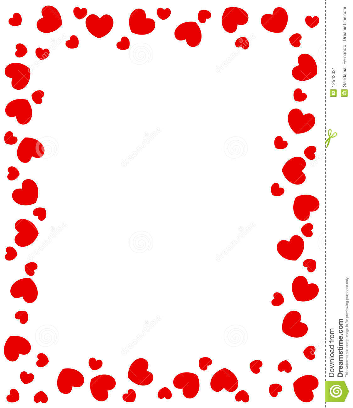 More similar stock images of ` Red hearts border `