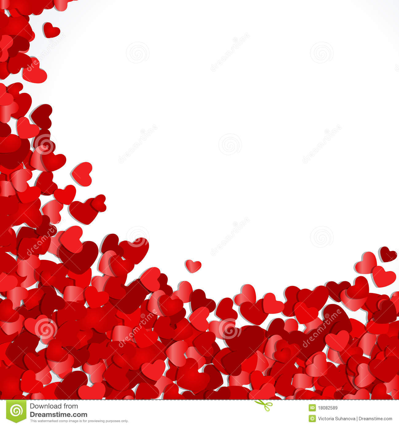 Red Hearts Confetti Royalty Free Stock Images Image