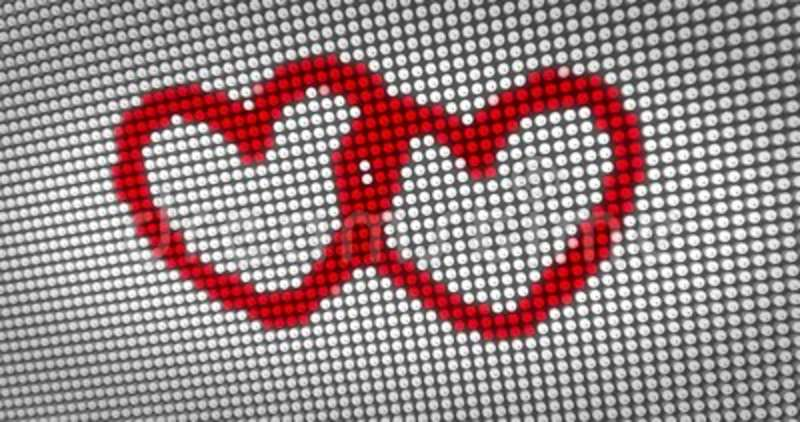 Beating Red Heart On Big Led Display Stock Video Video Of Symbol