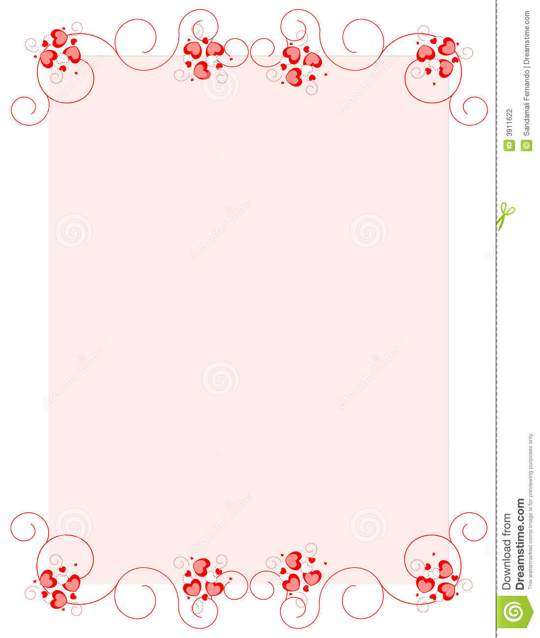 Valentine's Day / Holiday /Love background.. with red hearts.. for ... Flower Vine Clipart
