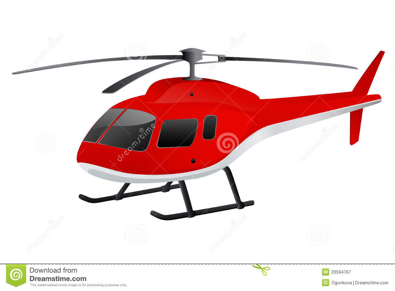 Red Helicopter Royalty Free Stock Photography - Image: 23594767