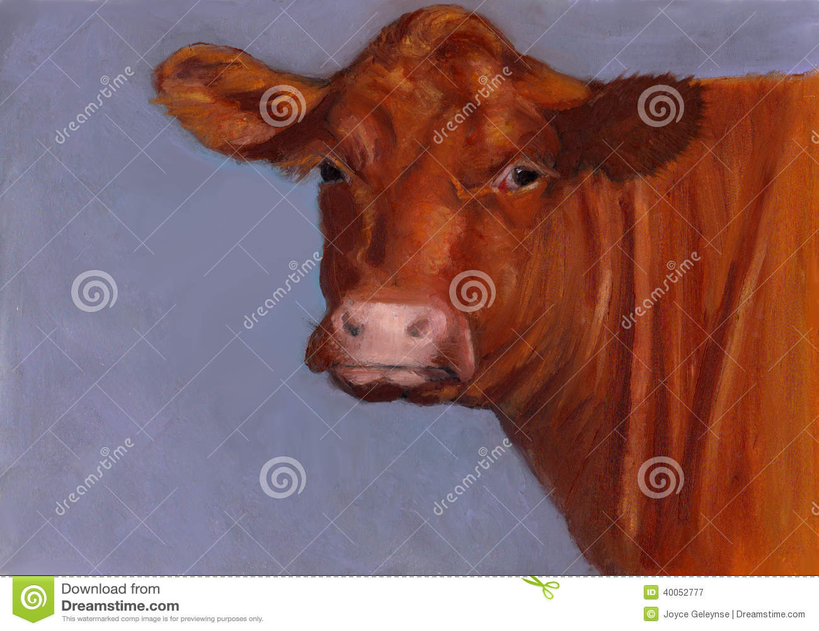 Steak Portrait Oil Painting