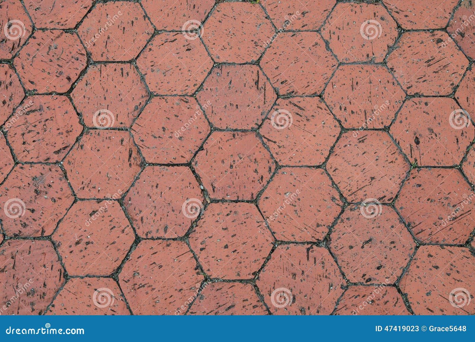Red Hexagon Terracotta Tiles Stock Image Image Of Material Tiled