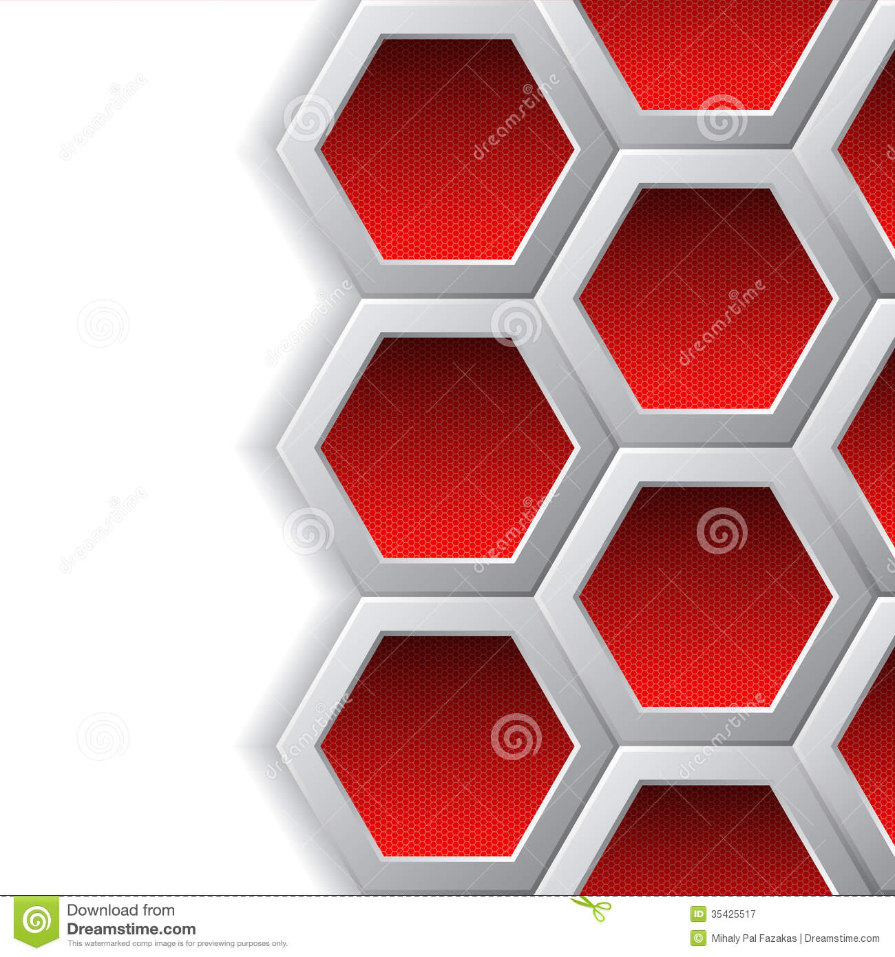 Red hexagons brochure background royalty free stock for Background for brochure design