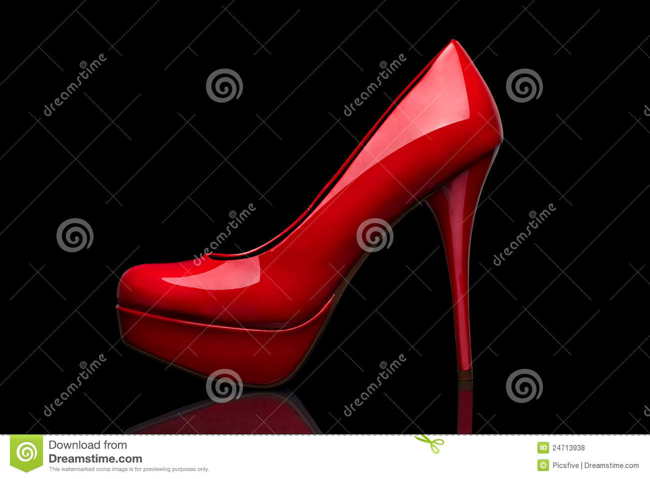 Black And Red High Heel Shoes