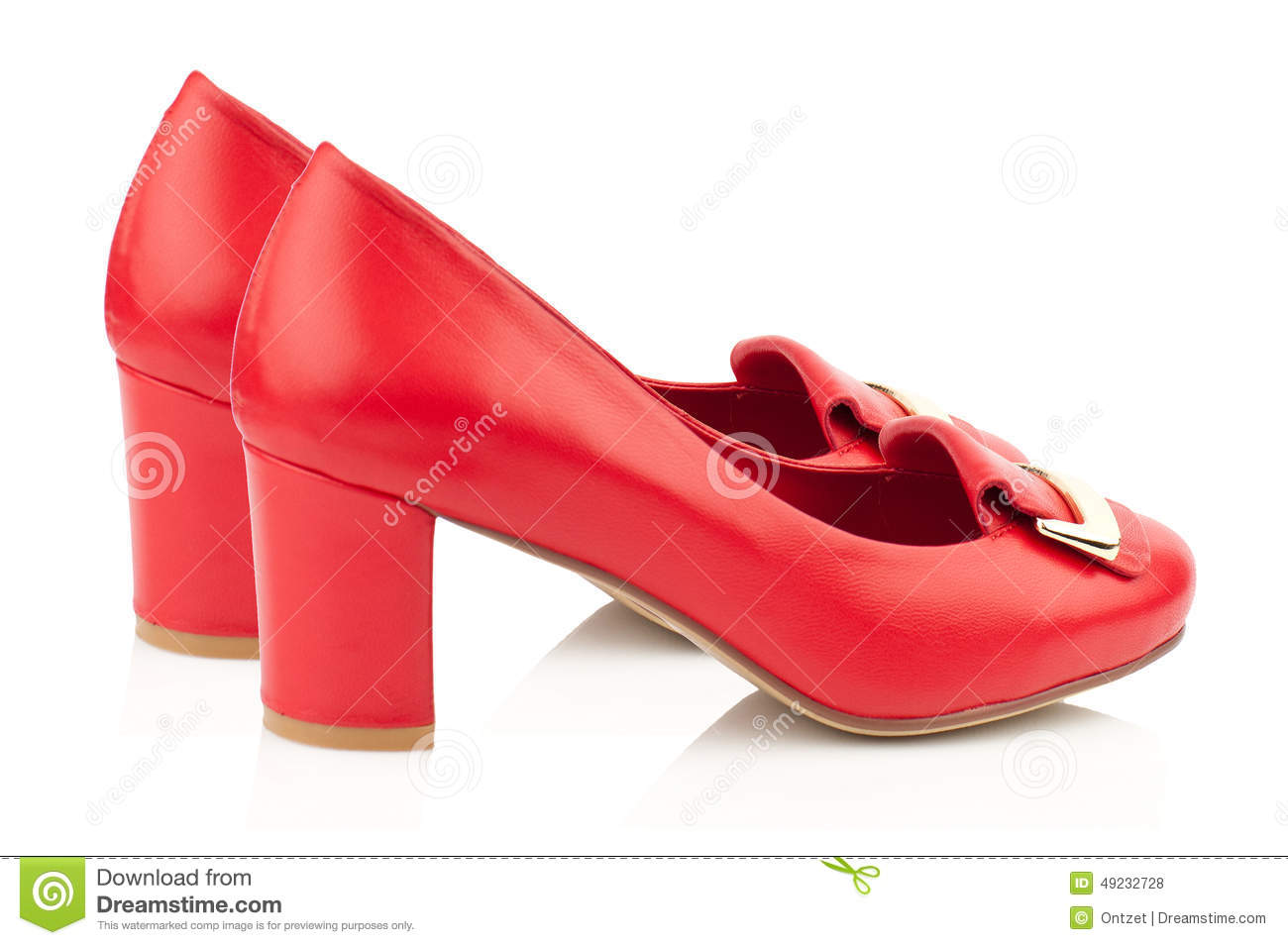 High Heel Red Women Shoes On White Stock Illustration - Image ...