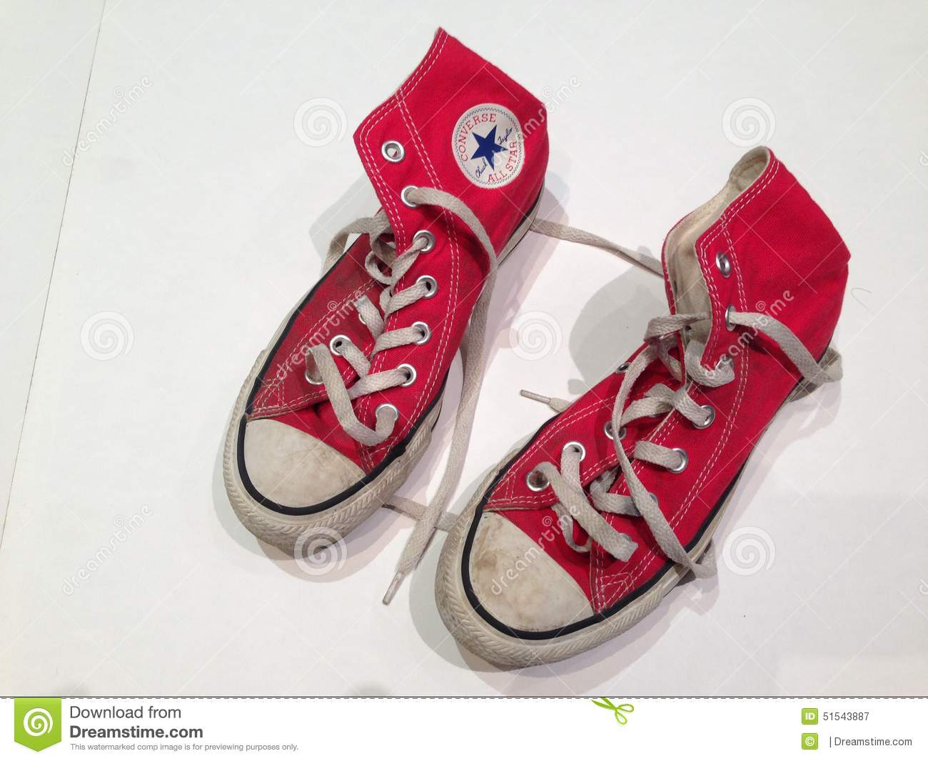 64a8fb130f35c7 Red High Top Converse Shoes Editorial Photography - Image of ...