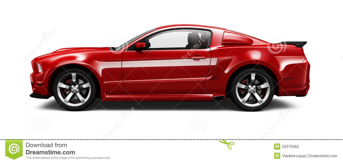 Red higher performance car stock illustration. Image of ...