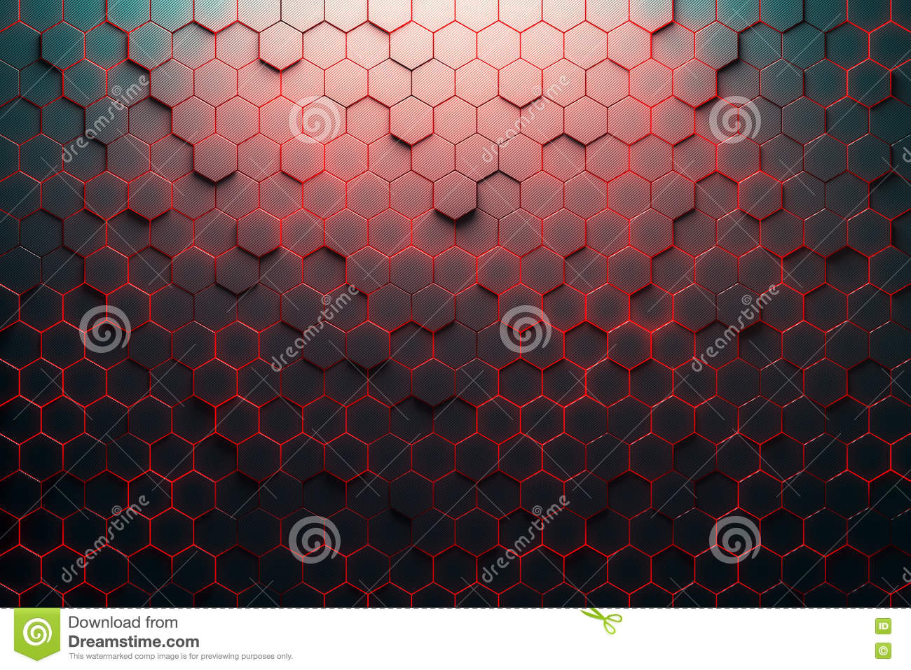 Red Honeycomb Pattern Stock Illustration Image Of
