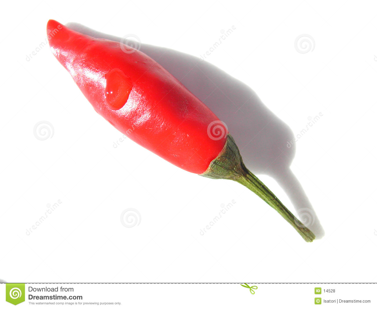 Red hot chili close up