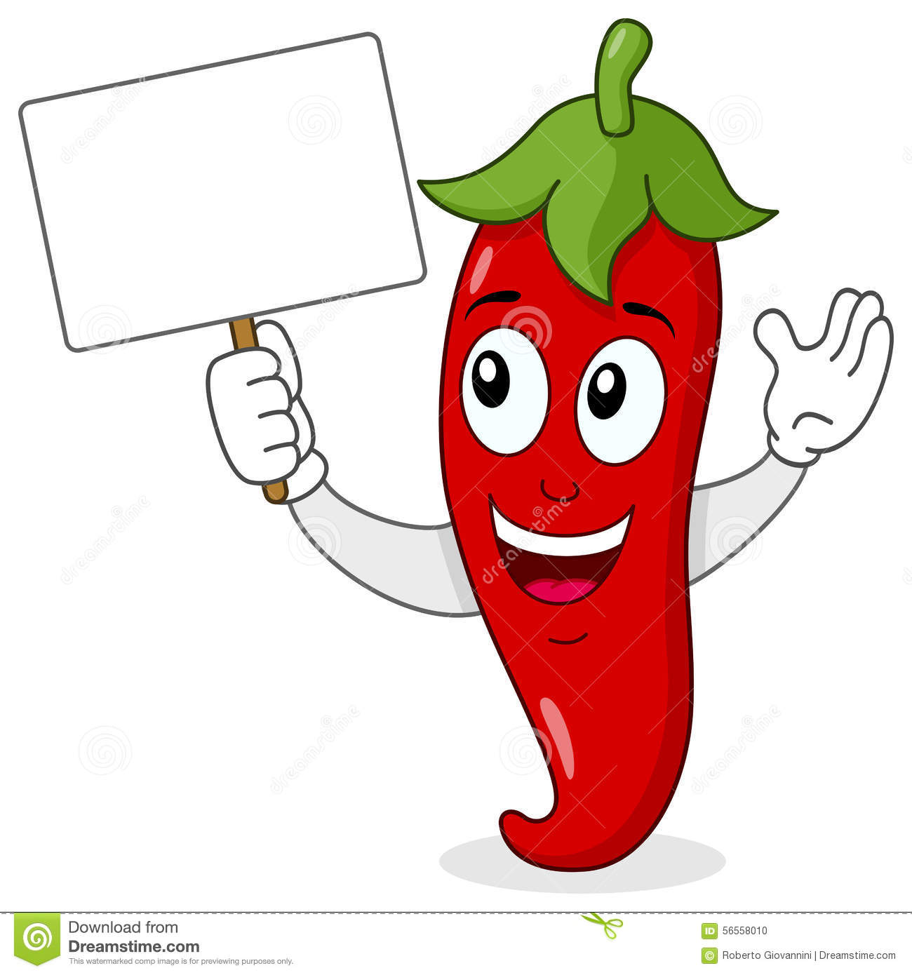 Red Hot Chili Pepper With Blank Banner Stock Vector ...