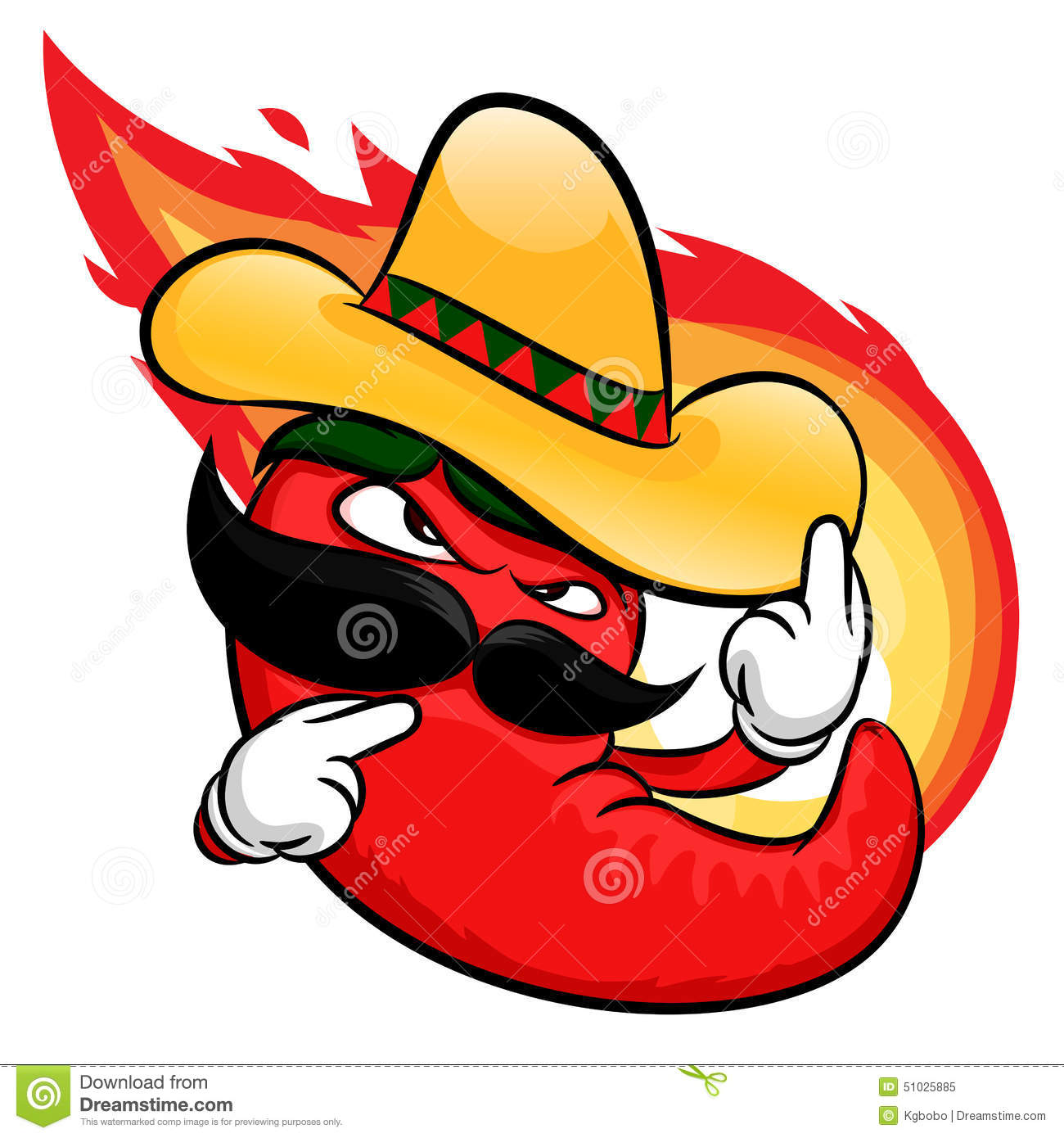 Red Hot Chili Pepper Cartoon Stock Vector - Image: 51025885